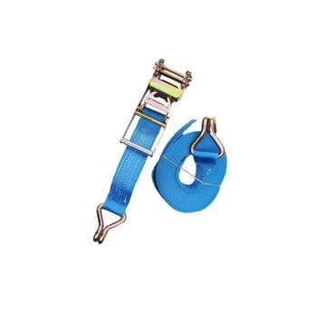 1 x 75mm x 8 metre RATCHET LASHING STRAPS MBL 10T Tie Down Claw Hook trailer